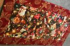 Red Christmas Ornaments Bird 24 X 12 Handmade Quilted Table Runner Topper