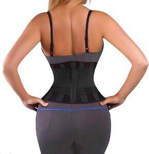 Back Brace Support Belt Pain Relief Adjustable Posture Corrector Waist Slimmer
