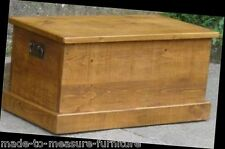 SOLID WOOD BEDDING BLANKET TOY BOX CHEST SEAT Indigo Furniture RUSTIC PLANK