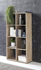 Wilmes: Raumteiler mit 8 Fächer - Bücherregal Standregal Regal - Eiche Sand
