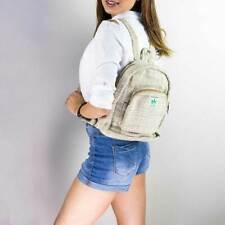 Unisex Small Hemp Backpack  Himalayan Hemp Bag for School, Gym, Festival, Travel