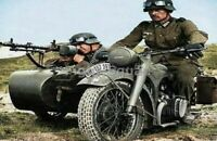 WW2 Picture Photo Soldiers Wehrmacht motorbike Puch 350 GS 3428