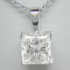 18Carat White Gold Princess Fine Diamond Necklaces & Pendants