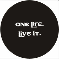 """16"""" Car Rear Wheel Spare Tire Cover For One Life Live IT Logo Soft Vinyl 29-31"""""""