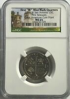 2019 W NGC MS65 FIRST RELEASES TEXAS SAN ANTONIO MISSIONS QUARTER GREAT AMERICAN