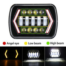 "7x6'' 5X7"" LED Projector Headlight High-Low Beam Halo DRL Bulb For Jeep Cherokee"