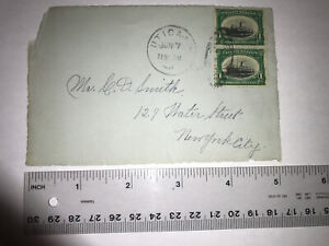 1901 Utica To New-York Front Cover #294 Pair