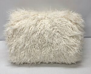 """NEW Pottery Barn TEEN Furlicious Faux Fur LARGE 41"""" Beanbag Slipcover~Ivory"""