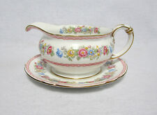 Shelley China Pompadour #13516 Gravy Boat & Underplate - Excellent!!