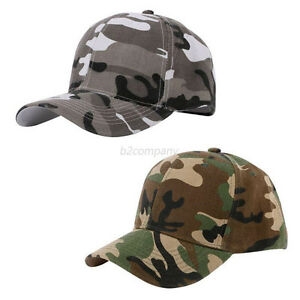 Men Women Baseball Cap Military Army Camo Hat Trucker Camouflage Snapback NEW