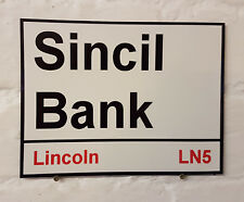 Lincoln city fc Sincil Bank Street Sign Metal Aluminium Football ground stadium