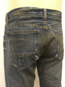 SLAB by Rick Owens MKD2001 Jeans Vintage Stright Leg Blue New HOGS Colored Wash