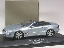 TOP: Minichamps Mercedes SL Baureihe R230 eisblau metallic in 1:43 in OVP