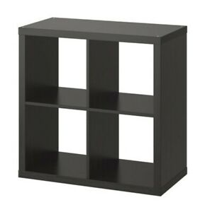 "IKEA KALLAX Shelf Unit Black/Brown 30 3/8x30 3/8 "" Free Standing/Wall Mountable"