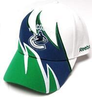 Vancouver Canucks NHL Reebok White Shark Tooth Wave Hat Cap Adult Men Adjustable