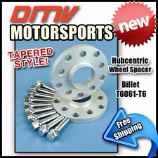 12MM Hubcentric Wheel Spacers Silver Tapered Bolts VW 5x100 5x112 57.1 14x1.5