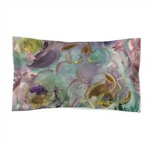 Lilac Bliss Design Abstract Art Polyester Pillow Sham Artistic Cushion Case in L