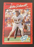 """Mike Schmidt All 1990 Donruss """"no dot"""" after INC error card - RARE ⚾️⚾️⚾️"""
