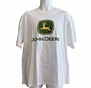 John Deere T Shirt Size XL White Vintage Inspired JOHN DEERE
