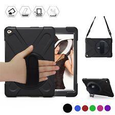 Apple iPad Air 2 Case Shockproof Kickstand Hand Shoulder Strap Full Cover Black