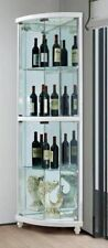 White Corner Bar Display Cabinet Compact