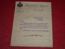 [PARFUM PARFUMEURS] LETTRE-COMMANDE à en-Tête Signée 1926 Rare!!