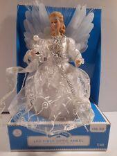 Holiday Time LED Fiber Optic Angel Tree Topper Christmas