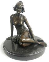 Bronze Art Deco Style Figural Elegant Woman Hand Made Statue Sculpture Gift Deal