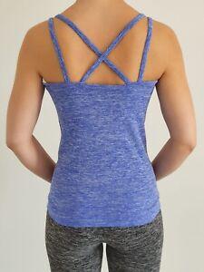 Women Seamless Racerback Yoga Tops Crossback Sports Vest Workout Fitness Tank