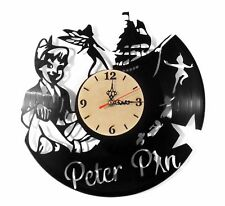"NEW  Vinyl Record Wall Clock ""Peter Pan"", modern decorative art ~ 12"""