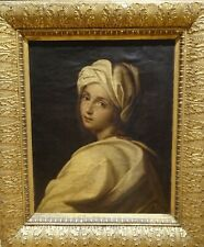 Large 18th Century Italian Old Master Sybil Lady Portrait Antique Oil Painting