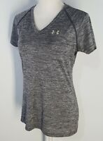 Under Armour Womens Heat Gear Athletic Top Size Small Shirt Semi-Fitted V-Neck