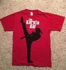 THE KARATE KID Red 100% Cotton Size S Sm Small T-Shirt GUC Soft