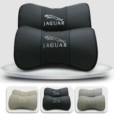 2PCS Leather Car Neck Headrest Pillow Soft Head Neck Rest Cushion fit for Jaguar