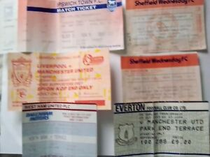Manchester United Away Tickets 1993 1994 1995 x 28