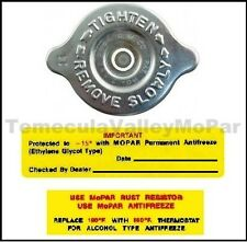 OE-Style Radiator Cap & Decal Set for 1957-1959 MoPar
