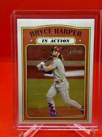 2021 Topps Heritage - BRYCE HARPER - In Action Mike Trout Puzzle Back Variation
