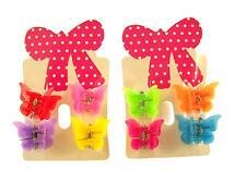 2 Cards of 8 coloré Butterfly Mini griffes