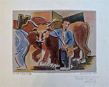 Jean Dorville lithographie originale signée 1956 personnage p 484