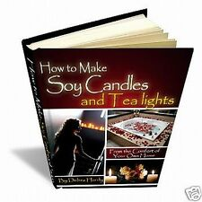 How to Make Scented Soy Candles Tealight 4 eBook(s) Do It Yourself Home Business