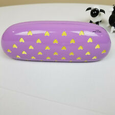 New Thalia Eyeglass Case Lavender Clam Shell w/Hearts, Never Used