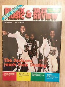 BLACK MUSIC & JAZZ REVIEW ~ APRIL 1979 THE JACKSONS HERBIE HANCOCK DENNIS BROWN