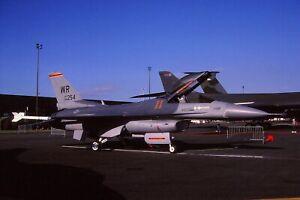 Original colour slide F-16C 86254/WR of 527 AS USAF