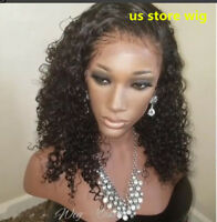 Glueless Lace Front Wigs Pre Plucked Brazilian Human Hair curly Full  Wig