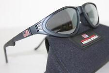NEW*~POLO SPORT~Ralph Lauren Gray Sunglasses FLAG Black VINTAGE Italy 1014/S