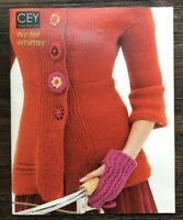 Classic Elite Yarns Winter Whimsy Knitting Pattern Book 2009 Pullover Gloves