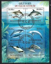 Animaux Dauphins Mozambique (212) série complète de 6 timbres oblitérés