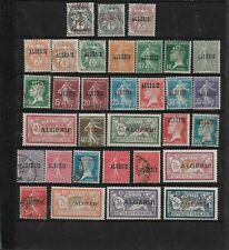 FRENCH ALGERIA / ALGERIE COMPLETE SET N°1 à 33 1924-25 CV 40€ MH/* OBL/USED