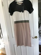 BNWT Bastyan Colourblock Pencil Dress Size12