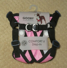 """Gooby Comfort X Step-In Adjustable Dog Harness 13""""-15.5"""" Chest Small Pink NEW"""